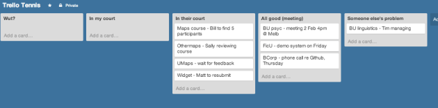 A totally successful day in Trello Tennis land.