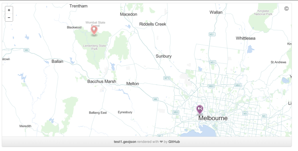 An example of GeoJSON on Github I whipped up.