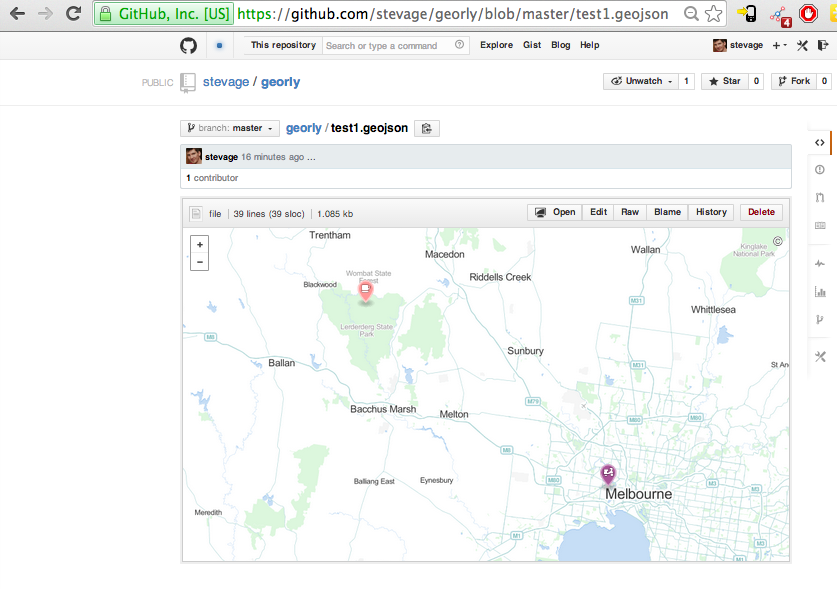 The test GeoJSON file, as seen on GitHub.